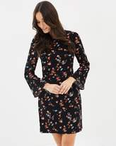 Oasis Ruby Flute Sleeve Dress