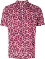 Isaia floral print polo shirt