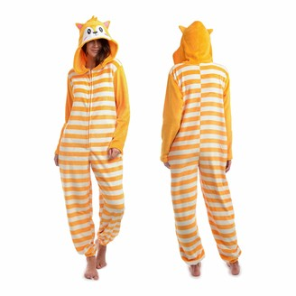 Body Candy Women's Printed Soft Hoodie Plush Onesie Critters