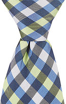 "Class Club Gold Label 12"" Checked Tie"