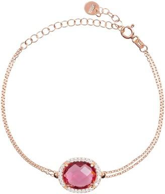 Latelita Beatrice Oval Gemstone Bracelet Rose Gold Pink Tourmaline