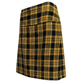 N. Non Signé / Unsigned Non Signe / Unsigned \N Yellow Wool Skirts