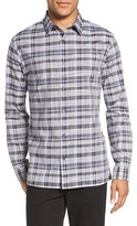 Vince Men's 'Melrose' Trim Fit Plaid Sport Shirt