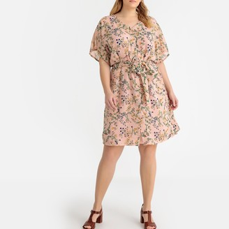 Castaluna Plus Size Mid-Length Shift Dress in Floral Print