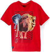 Lrg Red Threes a Lion Tee - Boys