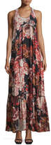 Elizabeth and James Izzie Floral Silk Maxi Dress, Multicolor