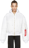 Vetements Reversible White Alpha Industries Edition Bomber Jacket