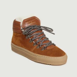 Zespà Camel Leather Zipped ZSP2 Sneakers - 36 | leather | camel - Camel