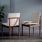 west elm Framework Upholstered Dining Chair - Stone (Twill)