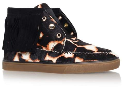 Nine West - Black 'Ballico5' Flat Lace Up Sneakers