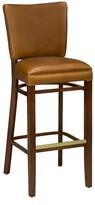 """Regal Beechwood Skirted Upholstered Seat Bar & Counter Stool Seat Height: Counter Stool (26"""" Seat Height)"""