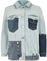 River Island Womens Mid blue reworked oversized denim jacket