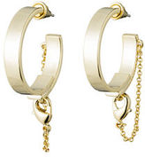 Eddie Borgo Thin Safety Chain Hoop Earrings