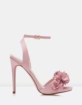 Forever New Violet Flower Vamp Heels