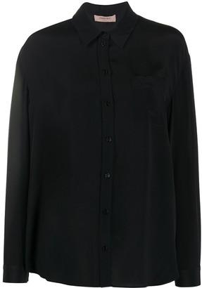Twin-Set Long-Sleeve Silk Shirt