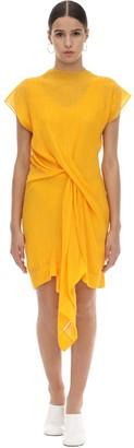 Nina Ricci MICRO PLEATED STRETCH JERSEY DRESS