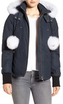 Women's Moose Knuckles Genuine Fox Fur Trim Hooded Down Jacket