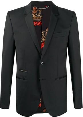 Philipp Plein Istitutional single-breasted tailored blazer
