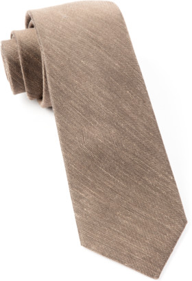Tie Bar Sand Wash Solid Brown Tie