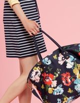 Joules Kembry Printed Canvas Weekend Bag in French Navy Posy in One Size
