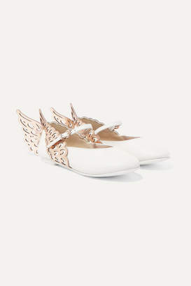 Sophia Webster Kids - Size 27 - 34 Evangeline Metallic Leather Ballet Flats