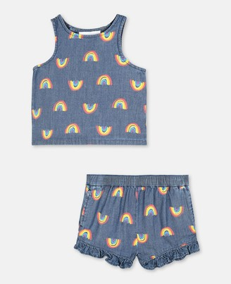 Stella Mccartney Kids Rainbow Chambray Tracksuit, Unisex