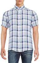Black Brown 1826 Plaid Linen Sportshirt