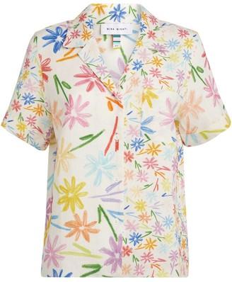 Mira Mikati Linen Floral Shirt