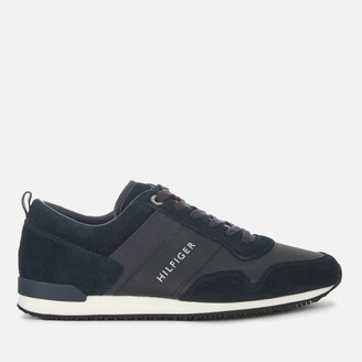 Tommy Hilfiger Men's Iconic Leather/Suede Mix Running Style Trainers