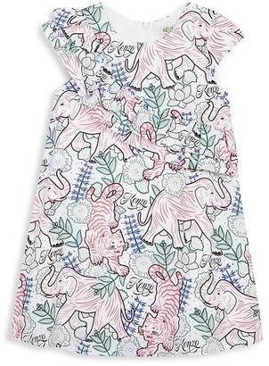 Kenzo Little Girl's Disco Jungle Printed Dress