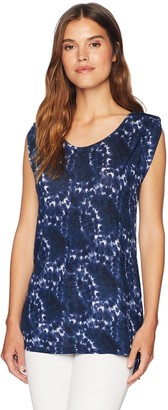 Jones New York Women's Open Neck Pullover with Shoulder Details