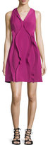Opening Ceremony Cody Sleeveless Twist-Ruffle Dress, Raspberry