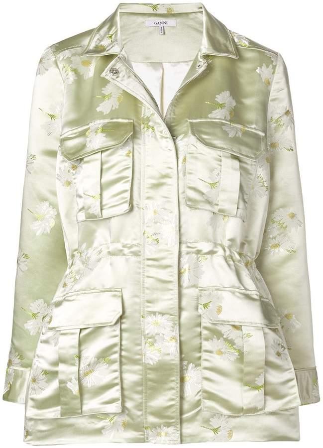 Ganni floral military jacket