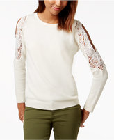 Charter Club Cashmere Cold-Shoulder Sweater, Created for Macy's