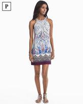 White House Black Market Petite Printed Knit Halter Shift Dress