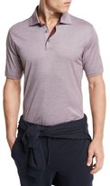 Ermenegildo Zegna Textured Polo Shirt, Red