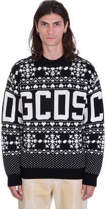 GCDS Knitwear In Black Wool