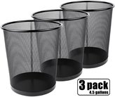 Greenco GRC2586 Mesh Round Wastebasket Trash Can