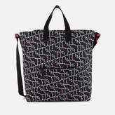 Lulu Guinness Women's Kissing Lips Romy Tote Bag Black/Chalk