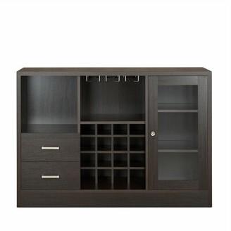 Latitude Run Felsted Bar Cabinet Color: Black