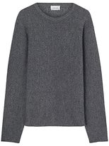 Jigsaw Horizontal Rib Crew Neck Jumper, Pepper