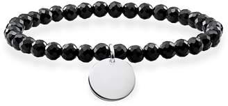 Thomas Sabo Black Disc Obsidian Facetted Bracelet of Length 15.5cm