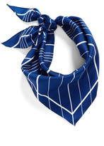 Vince Camuto Stripe Silk Triangle Scarf