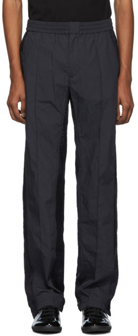 Valentino Black and Navy Nylon Lounge Pants