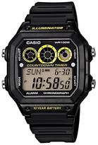 Casio Men's AE1300WH-1AV Digital Resin Quartz Watch