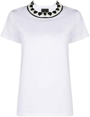 Pinko crochet neck T-shirt
