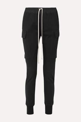 Rick Owens Poplin-trimmed Cotton-jersey Track Pants - Black