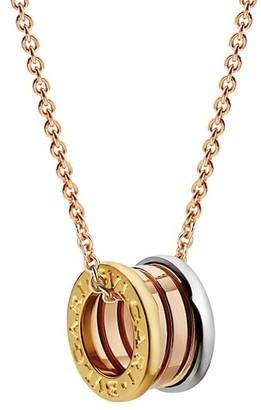 Bvlgari B.zero1 18K Tri-Tone Gold Pendant Necklace