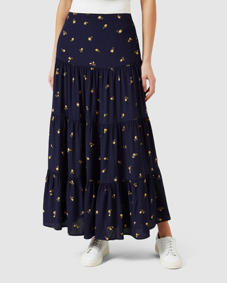 French Connection Women's Skirts - Floral Tiered Midi Skirt - Size One Size, 8 at The Iconic