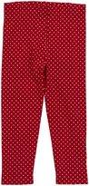 Little Green Radicals Button Leggings (Toddler/Kids) - Red-3-4 Years